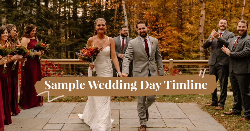 Sample Wedding Day Timeline